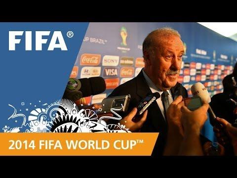 Spain's Vicente DEL BOSQUE Final Draw reaction (Spanish)