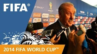 Spain's Vicente DEL BOSQUE Final Draw reaction (Spanish)