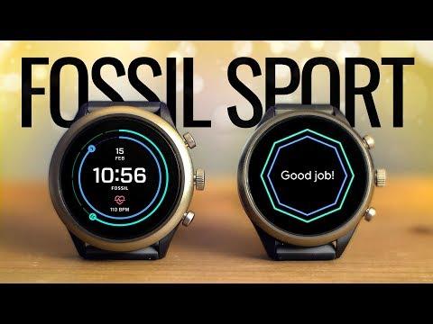 Fossil Sport распаковка лучших Android часов