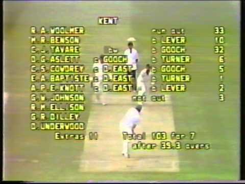 Cricket : Kent v Essex - Benson & Hedges Cup Semi-final highlights 1983