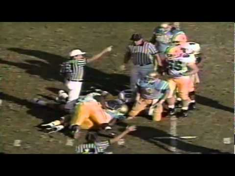Oregon DE Matt LaBounty strips the ball from UCLA QB Tommy Maddox vs. UCLA 11-16-1991
