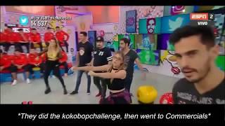 """KoKoBop challenge on Argentinian TV program """"ESPN Redes"""" [170808]"""
