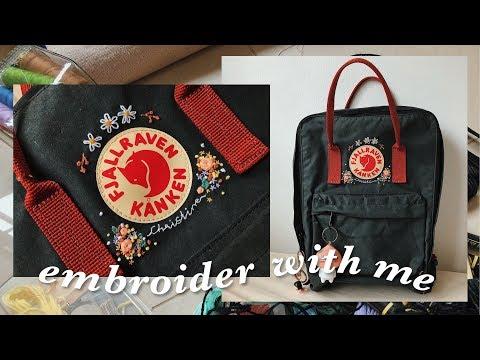 diy embroidered kånken backpack 🎒 | embroider with me
