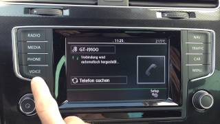 VW Golf 7 Radio Composition Media / Discover Media - Alle Funktionen
