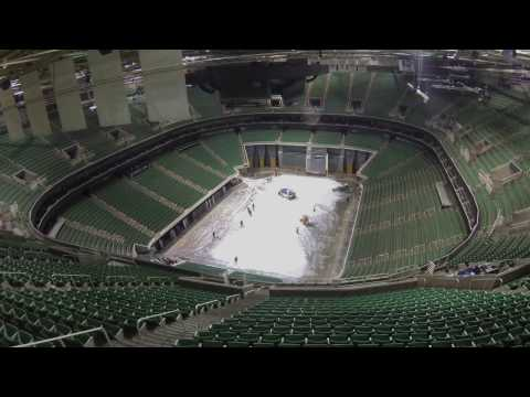 Time-Lapse Arena Flip: Disney On Ice to NBA Utah Jazz Game