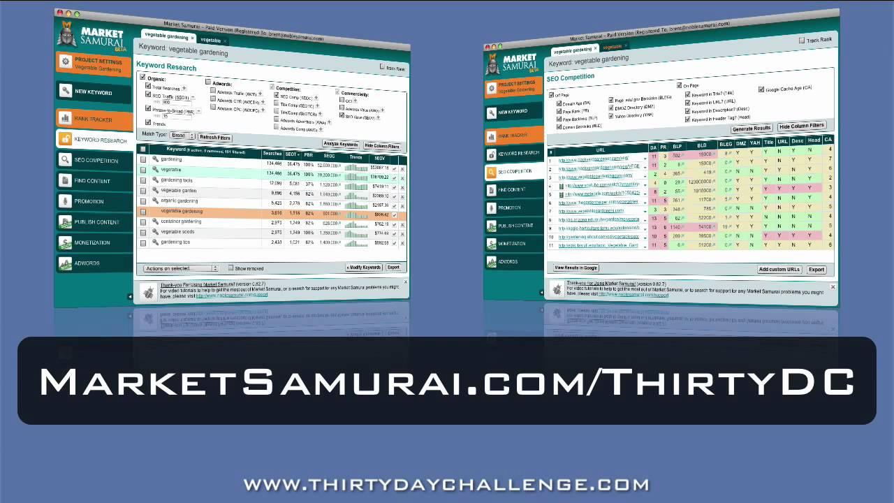 30DC Day 02 - Intro To Market Samurai - YouTube