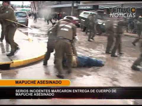 TRASLADO CUERPO MAPUCHE ASESINADO TEMUCO NOTICIAS