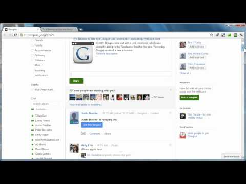 Google Plus Tip - How to Share Web Links