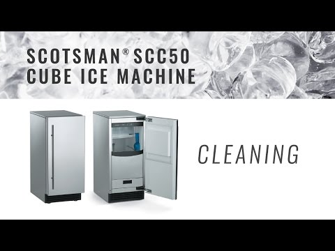 Scotsman SCC50 Cube Ice Machine - Cleaning