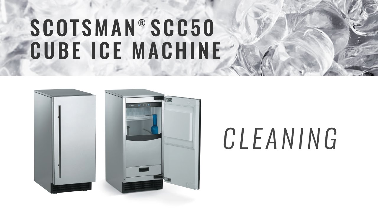 Scotsman Scc50 Cube Ice Machine Cleaning Youtube