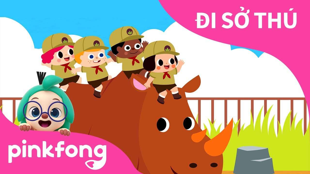 ĐI SỞ THÚ   Bài hát về Động Vật   Pinkfong! Những bài hát cho trẻ em