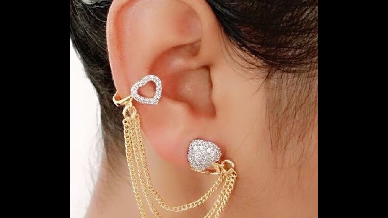GOLD Amp DIAMOND EARCUFF COLLECTION EARRING DESIGNS YouTube