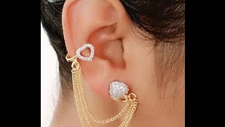 GOLD & DIAMOND EARCUFF COLLECTION , EARRING DESIGNS