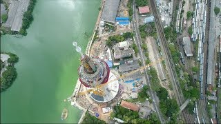 Ada Derana gets an inside look at construction of Lotus Tower