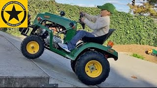 John Deere Tractor For Children Gasoline Powered Live Test Drive By Jack