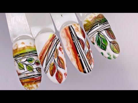 Дизайн ногтей осень 2019🍁 Простой маникюр гель лаком🍂