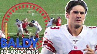 Breaking Down Daniel Jones' First Career Start | Baldy Breakdowns