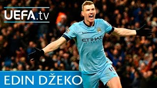 Edin Džeko scores for Manchester City against Real Madrid