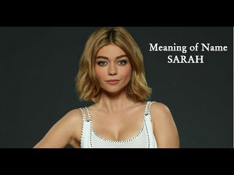 Meaning of Name Sarah