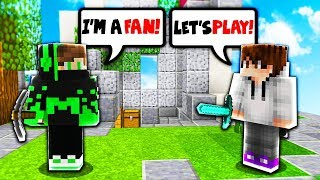 TEAMING WITH A FAN! (Minecraft Skywars) thumbnail