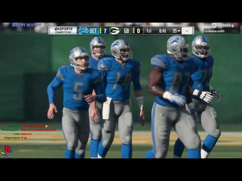 NFL FOOTBALL WITH LEO🏈LIONS @ GREEN BAY🏈 SILENT SCOTTY'S GAMING WORLD🌎 MADDEN 18