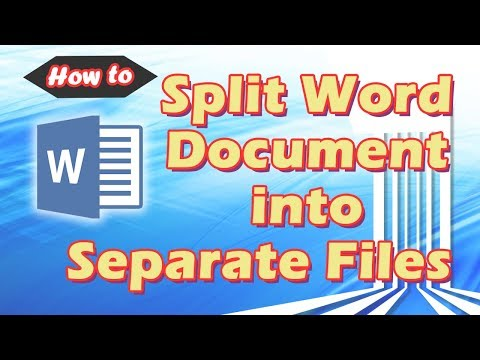 📌How To Split Word Document Into Separate Files