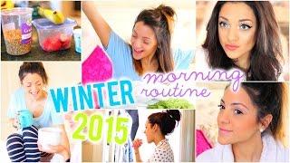 Winter Morning Routine 2015! Niki and Gabi