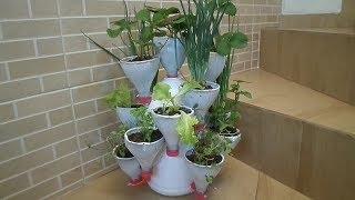 Vaso Multifuncional de Mini Plantas de Garrafas Pet