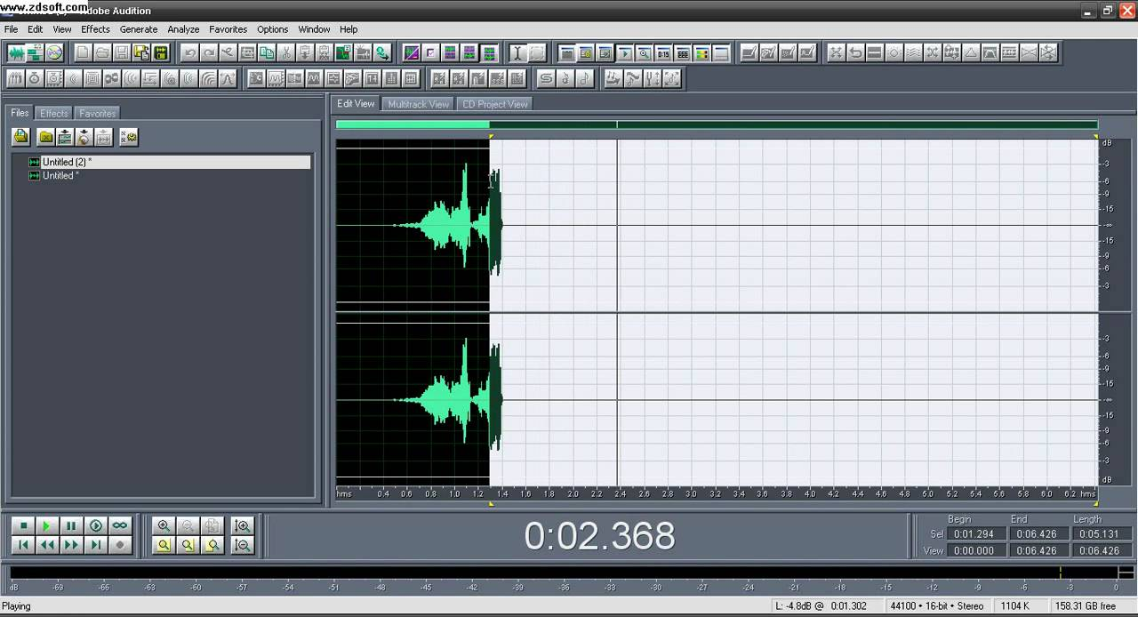 how to add reverb to bus audition