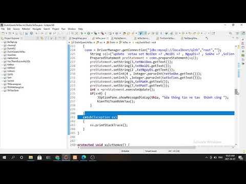 Xây dựng ứng dụng Java kết nối cơ sở dữ liệu kết hợp giao diện . Ứng dụng quản lí vé tàu