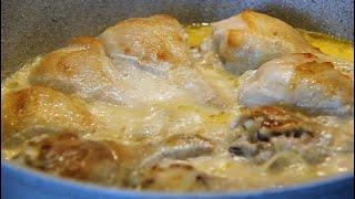 Курица в Сметане с луком. Вкусный и быстрый ужин.