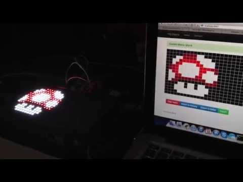 Editor online de imagens para Matriz de LED RGB no Arduino