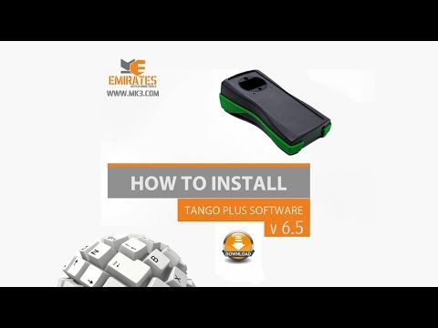 HOW TO INSTALL TANGO PLUS SOFTWARE V 6.5