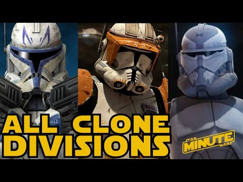 All Major Clone Divisions of the Clone Wars (Canon) - Star Wars Explained