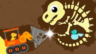 Dinosaur Digger 3 - The Truck Kids Game - Play Fun Dinosaur Digger 3 Game For Kids