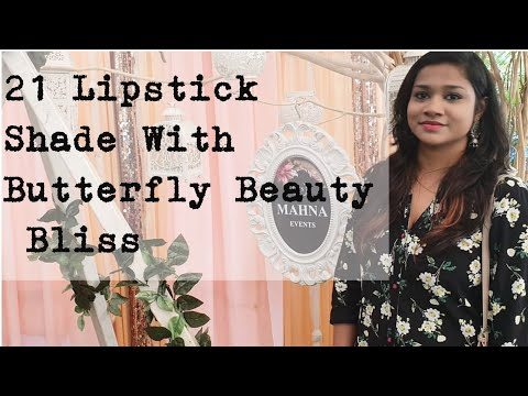21 Lipstick Shade Orangic Natural Shade **butterfly Beauty Bliss**review In Tamil  Butterfly Beauty Bliss Products Price List