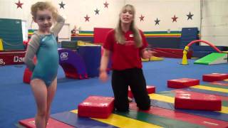 5/6 Beginner Gymnastics Cląss Using the Original Block at Patti's All-American