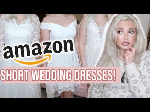AMAZON WEDDING DRESS TRY-ON | Short Wedding Dresses | Former Bridal Consultant