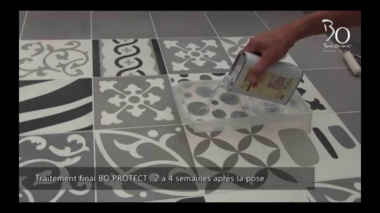 Pose de carreaux ciment par bati orient youtube for Carreaux de ciment