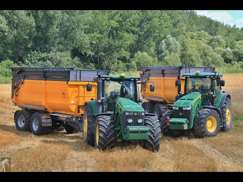 Žatva ozimného jačmeňa 2016 - PD Balog nad Ipľom ; Claas+Massey Ferguson+John Deere+Challenger+Liaz