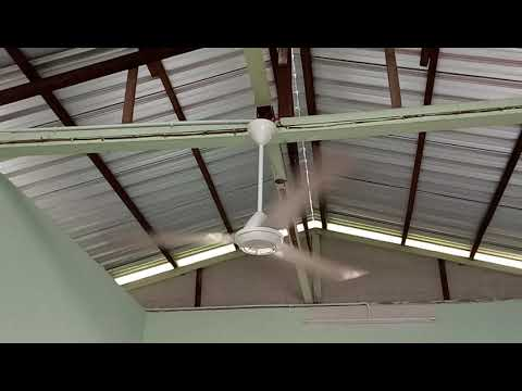 KDK K15V0 And Panasonic FMY153 Industrial Ceiling Fan At Living Room House