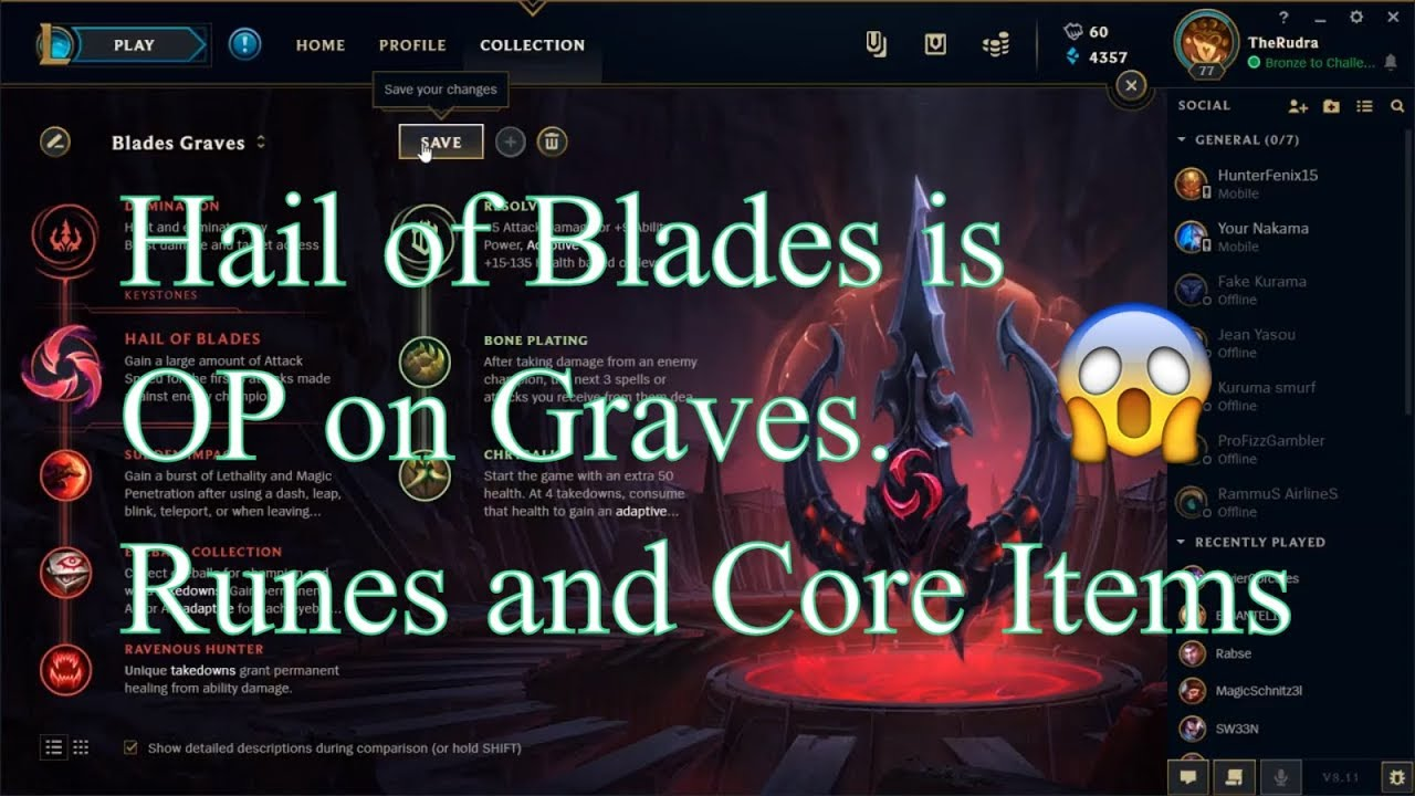 New Op Hail Of Blades Graves Runes And Build League Of Legends Youtube U.gg analyzes millions of aram matches to give you the best graves aram u.gg graves aram build shows best graves aram runes by wr and popularity. new op hail of blades graves runes and build league of legends