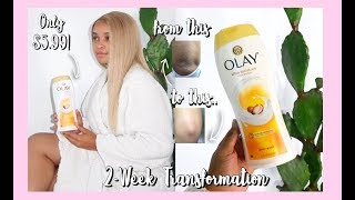 THIS ONE PRODUCT TRANSFORMED MY SKIN IN 14 DAYS!   Olay Body Wash Challenge