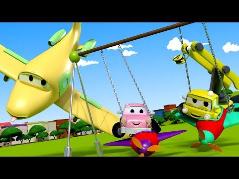 Balanço dos bebês - Turma da Construção na Cidade da Carro  Desenhos animados crianças