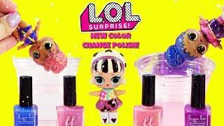 LOL SURPRISE D.I.Y. New Color Change Nail Polish Rip Tide, Foxy, Go Go Gurl