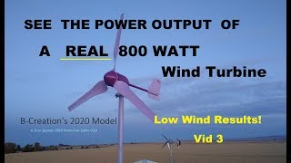 Micro Wind 800 Watt 12/24/48 Turbine installed with power results - Vid 3