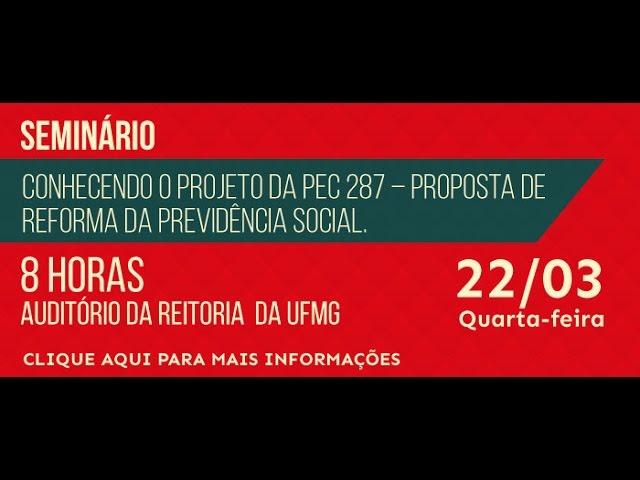 Seminário sobre a Reforma da Previdência Social