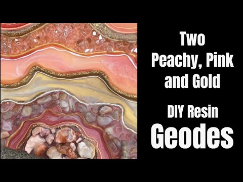 12. How to make a RESIN GEODE Two PEACHY and PINK