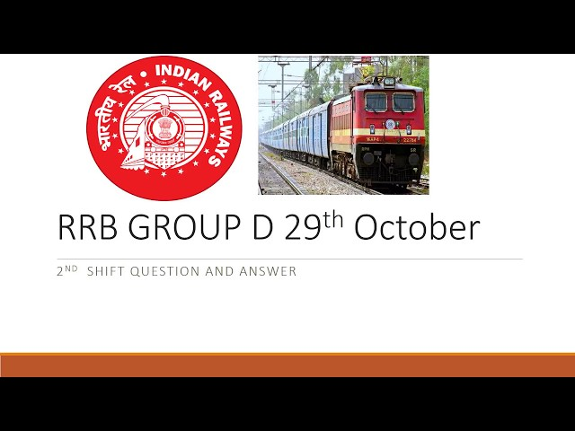 RRB GROUP D 29th October 2nd shift paper review general awareness and science questions