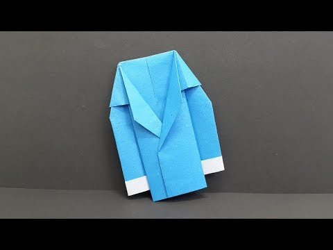 How to make a Paper Coat (Suit/Jacket) - Easy Origami Coat